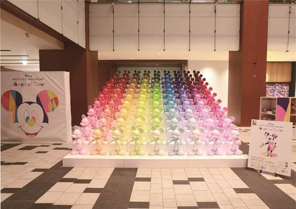 90色・90体のミッキーマウス立像を展示予定©Disney