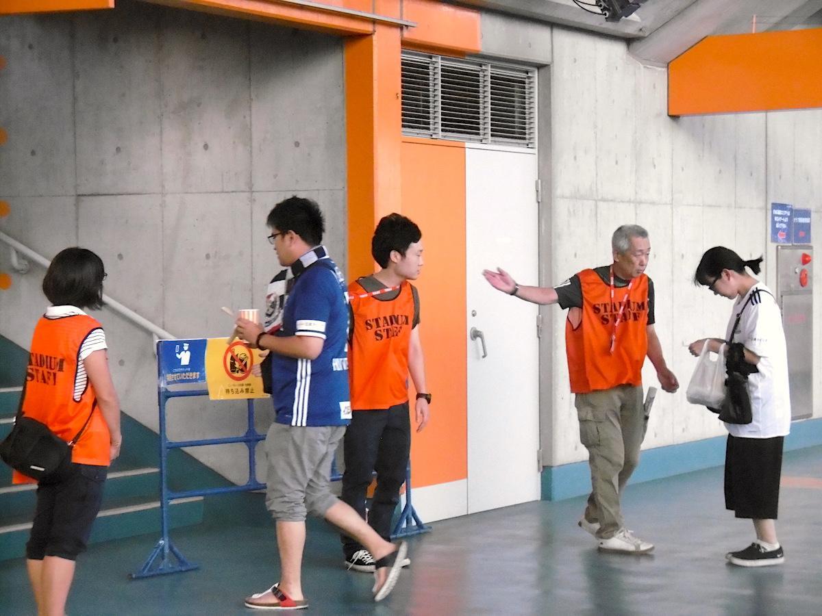 日産スタジアムで行われる試合で活動実習する