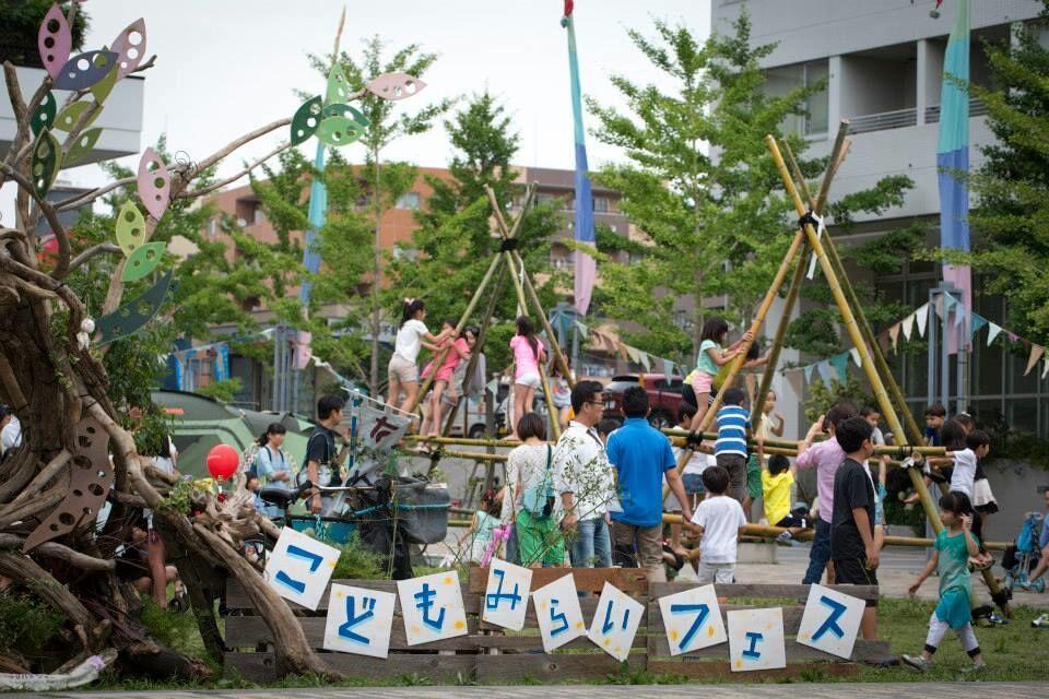 竹の遊具で遊べる出張プレイパークや竹を使ったワークショップも