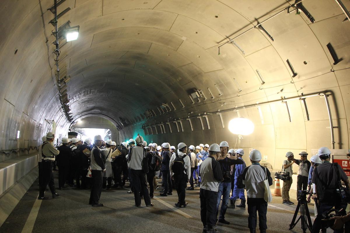 公開されたシールドトンネル