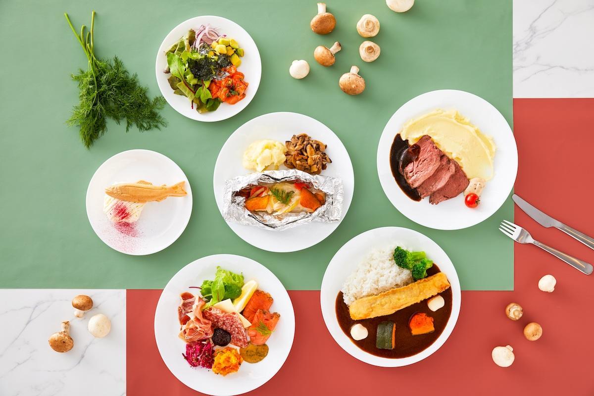 前菜からデザートまで個性的な料理を提供