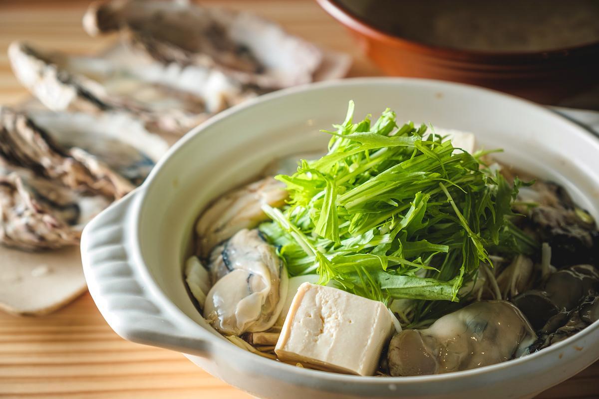自然薯とろろ牡蠣鍋