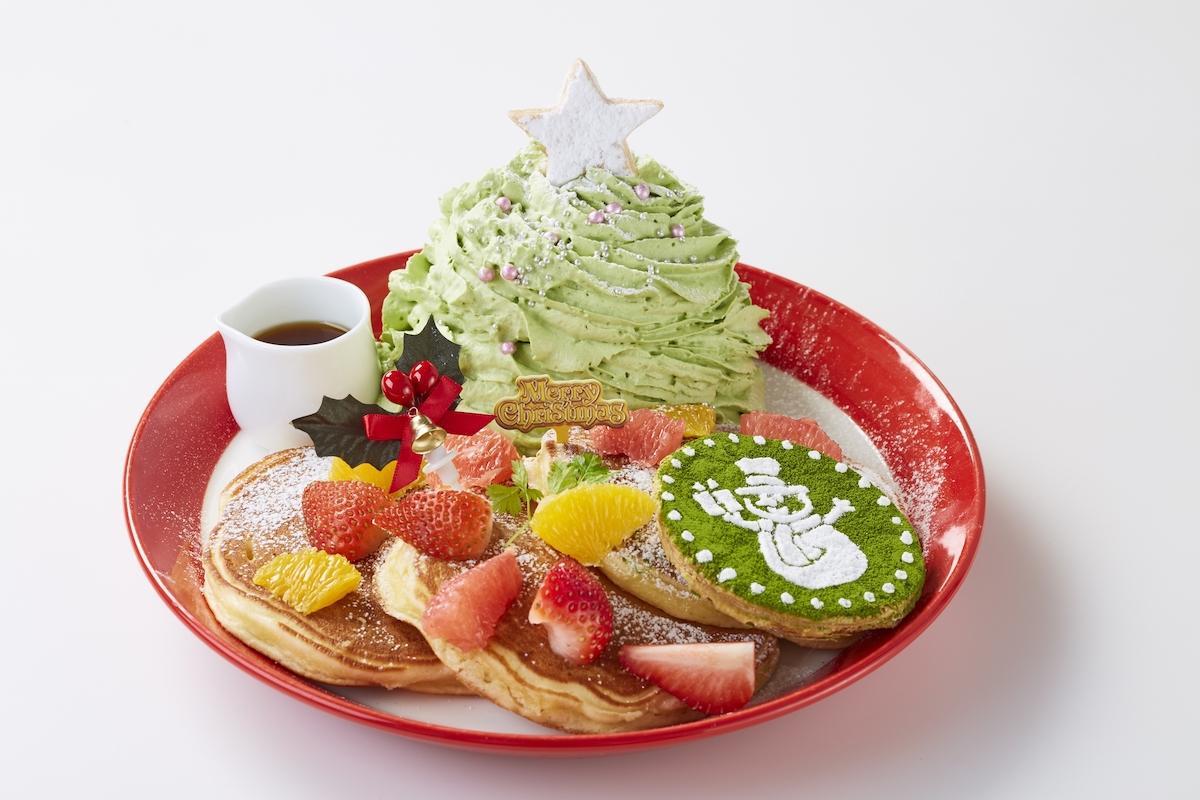 「ミックスフルーツのグリーンマウンテンパンケーキ」