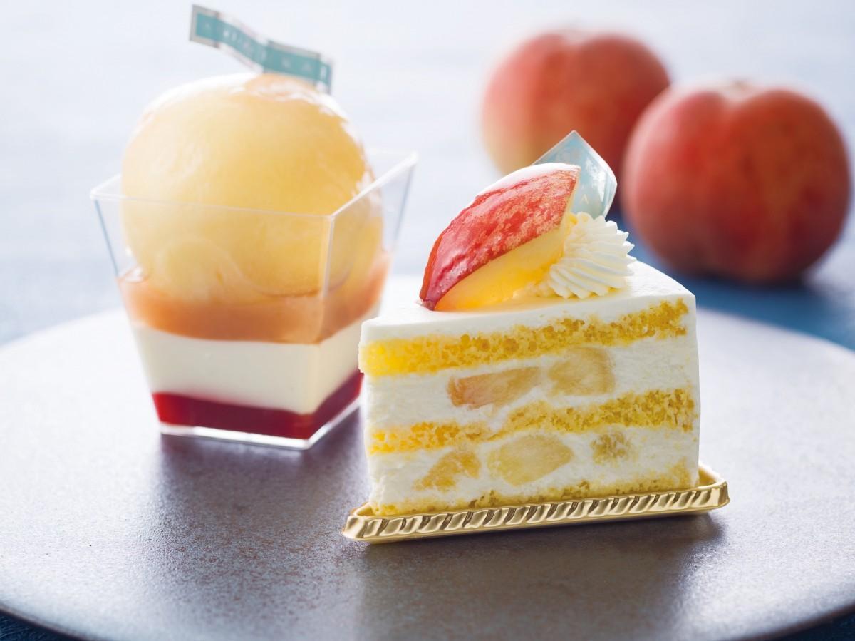 桃を使った生洋菓子が登場
