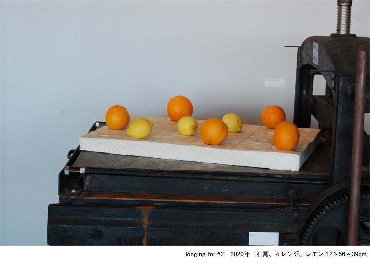 longing for #2 2020年 石こう、オレンジ、レモン 12×56×39センチ