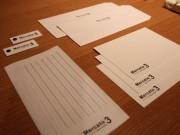 小倉のグラフィックデザイナーが「活版印刷」使った文具-「魅力伝えたい」