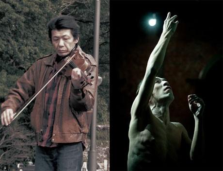 身体表現者の大槻オサムさんによる一人芝居と、音楽家の谷本仰さんによるバイオリン演奏のコラボレーション舞台。