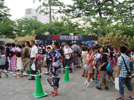 「昨年は約4000人の来場者」があった「小倉城お化け屋敷」。