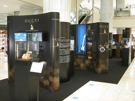 「GUCCIの世界観をあらわした」という展示スペース