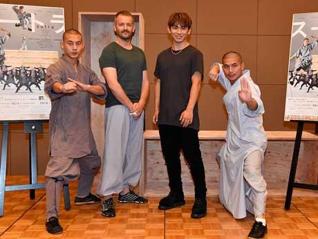 会見に登壇した(左から)グアン・ティンドンさん、アリ・タベさん、NAOTOさん、ファン・ジャハオさん (C)Akihito Abe