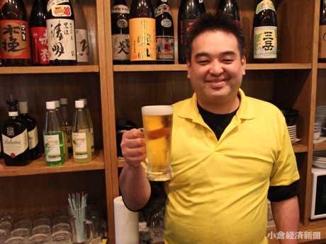 「立ちヒロシ」店長の中川直樹さん
