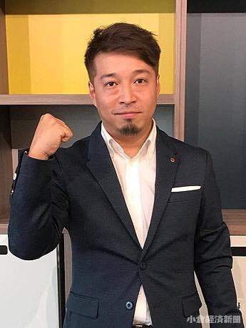 シェアオフィス「fabbit(ファビット)」の運営もする福岡広大さん。