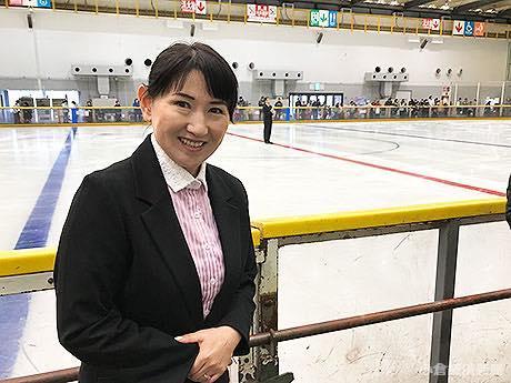 同センターでスケート教室を主宰する伊藤みどりさん