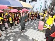 小倉の商店街で「十日ゑびす祭り」 芸者ら20人が「商売繁盛ヨイヨイヤー」