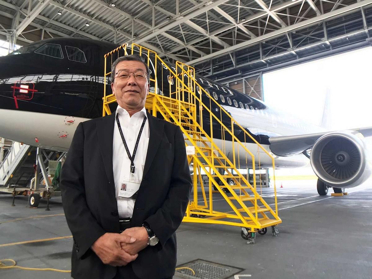 松石禎己社長と公開された「JA25MC」