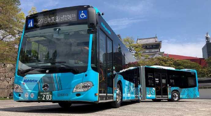 メルセデス・ベンツCitaro-Gの連節バス(提供写真)