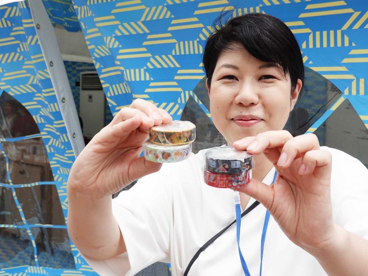 井筒屋小倉店限定のマスキングテープ。昭和時代の「izutsuya」シャッターデザインや小倉