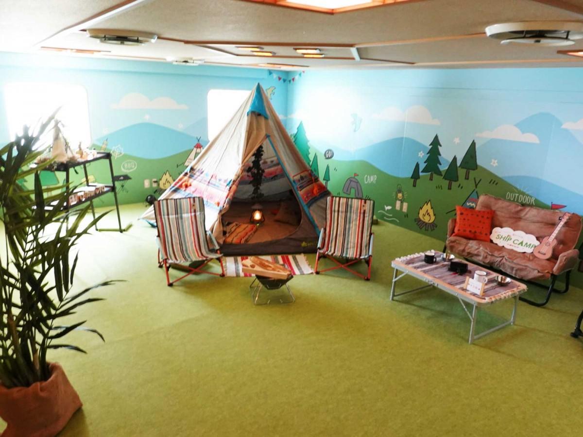 テントを設置した「映えキャンスタジオ」