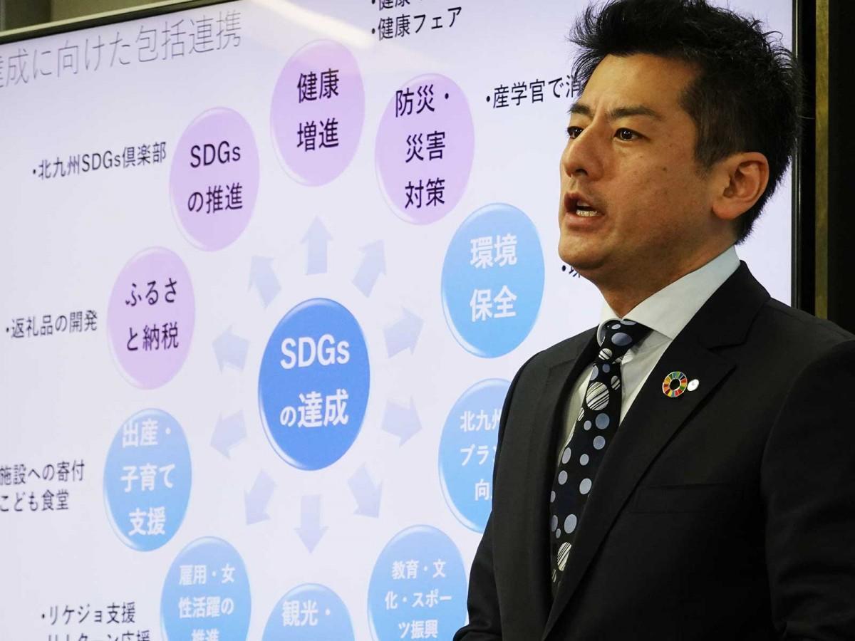 森田隼人社長がSDGsへの取り組みをプレゼンテーションした