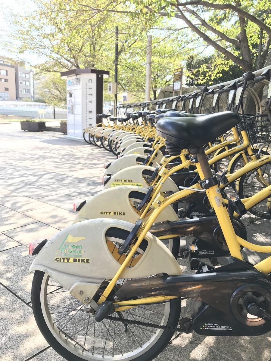 市内20カ所に設置されたシティーサイクルステーション