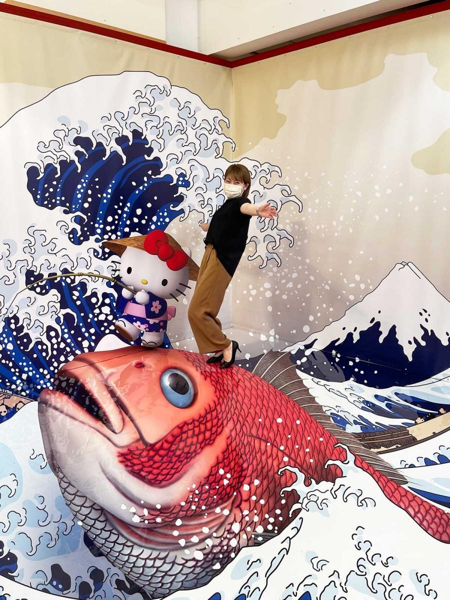 「ハローキティと富士山」
