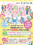 熊谷の5店舗を対象に「春の街ナカスタンプラリー」 スタンプ2つで買い物券に