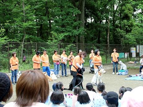 熊谷のドッグランでアニマルセラピー親子教室 犬との関わりを学び体験