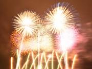 熊谷で花火大会 メッセージ花火やスターマインコンクール、計1万発打ち上げ