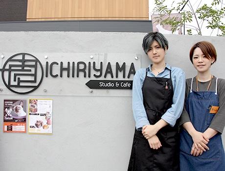 スタジオ、猫カフェそれぞれ得意分野を担当する霜田さん姉妹