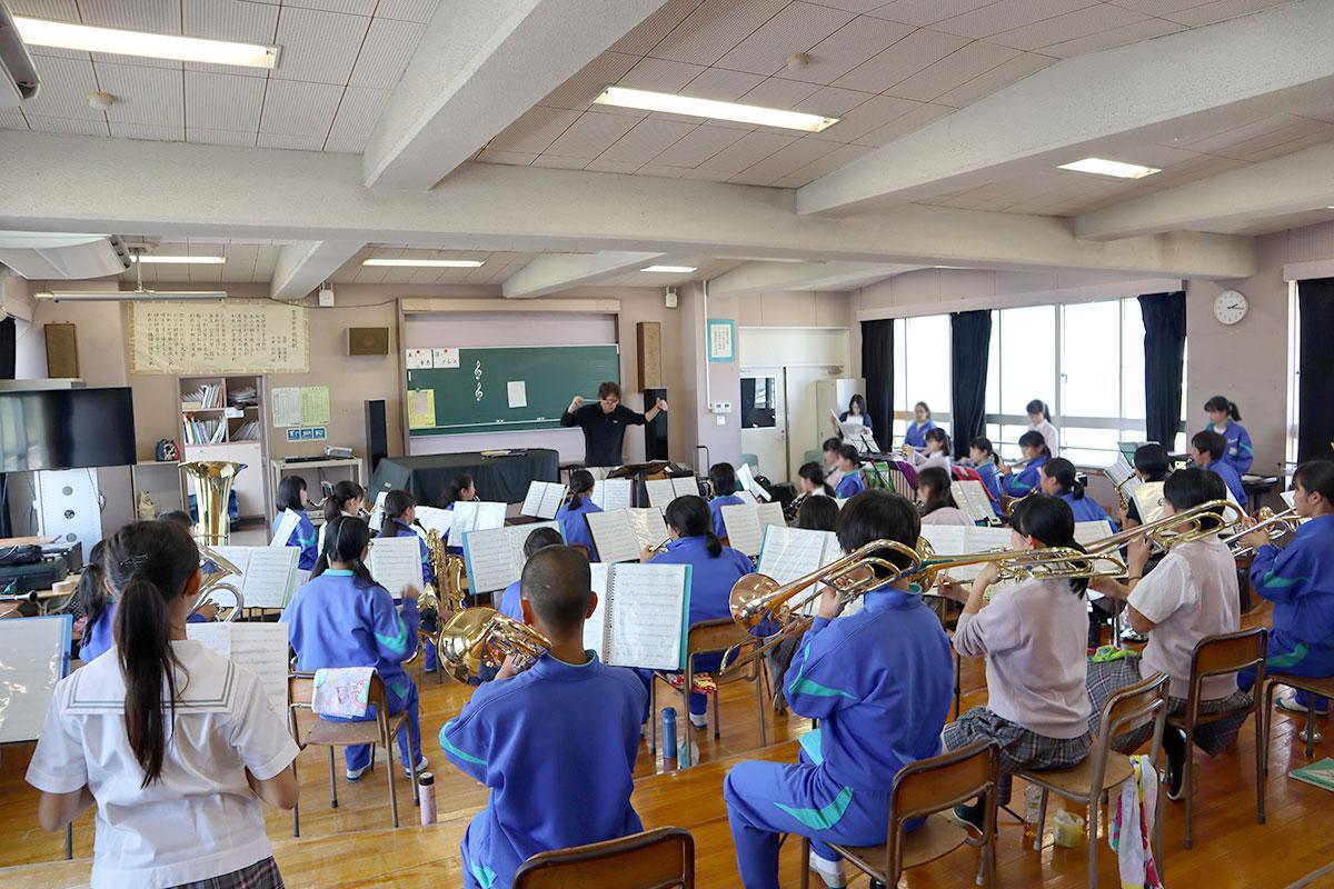 吹奏楽部 合同練習の様子