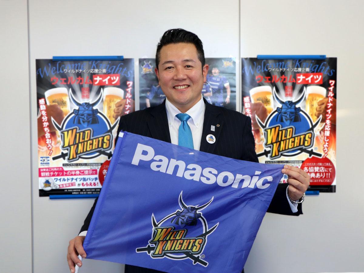 「ラグビータウン熊谷」で試合後も楽しんでほしいと呼び掛ける藤澤さん