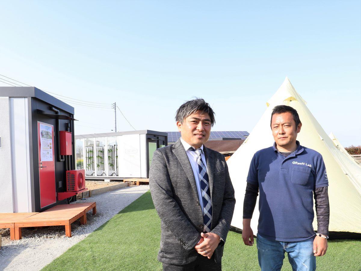 深谷市から全国へ新しい農業の形を発信していきたいと話す長瀬さん(左)と遠藤さん(右)