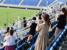 熊谷ラグビー場で学生応援「のびのび演奏撮影会」 部活の思い出づくりに