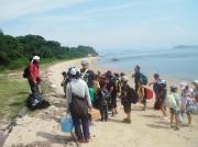 倉敷・下電ホテルが無人島ツアー、瀬戸内海に浮かぶ「釜島」内を散策