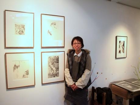 銅版画家の丸山智代さん
