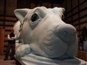 倉敷で「犬島ハウスプロジェクト」ワークショップ-巨大イヌ像の表面タイル制作
