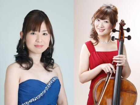 ピアノの中島尚子さん(左)とチェロの細谷公三香さん(右)