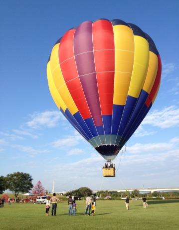 当日使われる気球