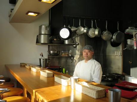 「うさ八」オーナーシェフの小野壽秋さん