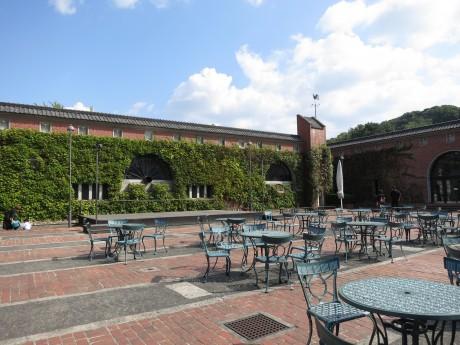倉敷アイビースクエアの中庭