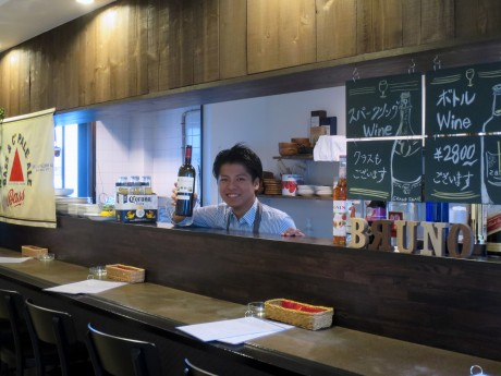 「玉島バルBRUNO」店主の長尾紘太郎さん