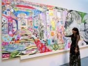 倉敷・大原美術館で水野里奈さん作品展 緻密さと力強さキャンバスに