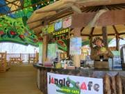 倉敷・鷲羽山ハイランドに「ジャングルカフェ」 ワニ肉の手羽などでワイルド感演出