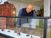 倉敷・鷲羽山でカワベマサヒロさん作品展 ステンレスナット削り出した指輪展示