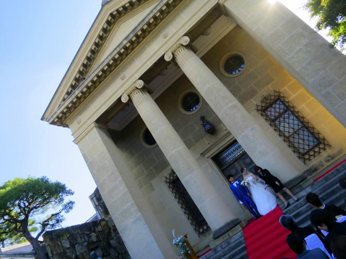 大原美術館正面玄関で行う挙式のイメージ