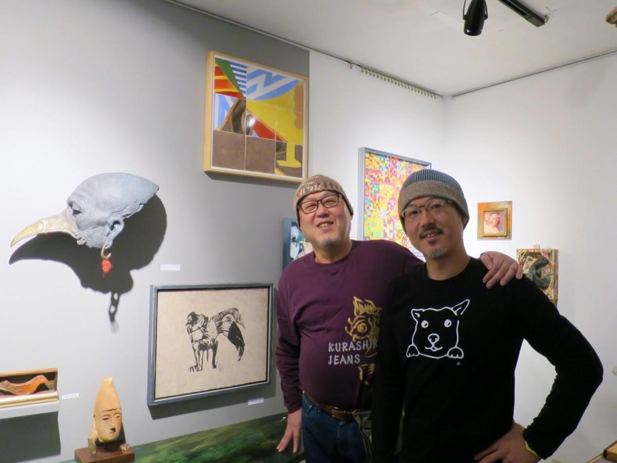 川埜龍三さん(右)とパウハウス・石川隆行社長(左)