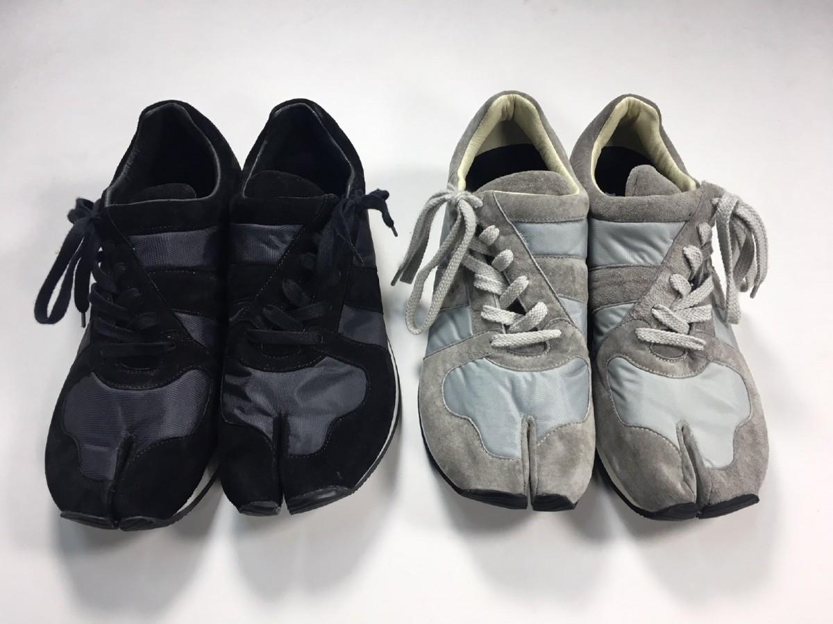 岡本製甲とコラボした「makerhood」の足袋型シューズ