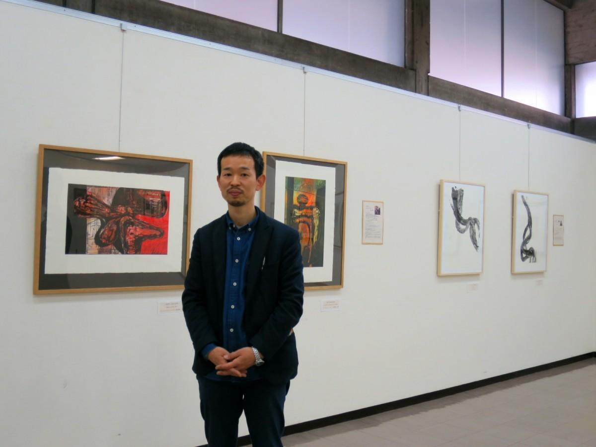 主催する「阿知版画工房」の内田祥平さん