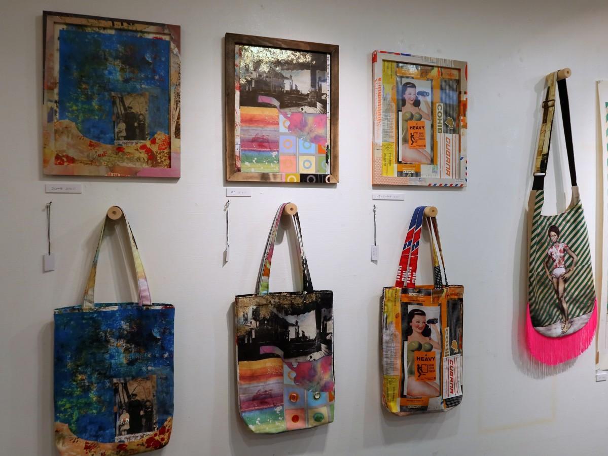 「ko-u-ki-shi-n」のバッグと川埜龍三さんの原画