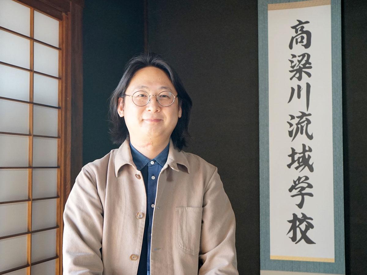 一般社団法人「高梁川流域学校」代表理事の坂ノ上博史さん